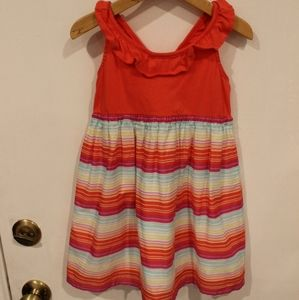 Gymboree spring summer dress with colorful stripes